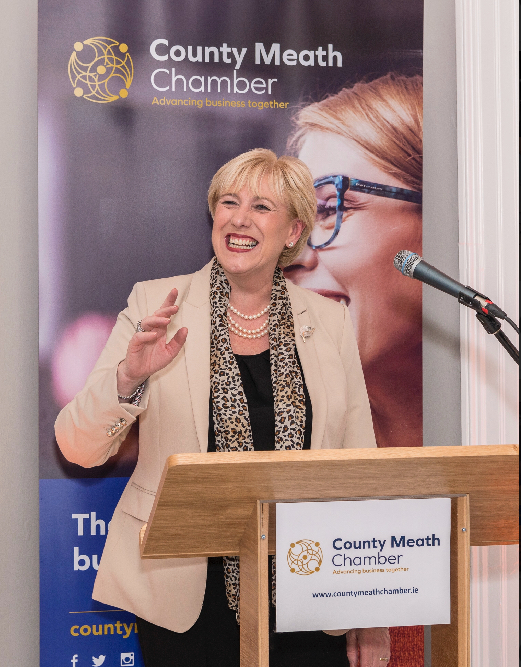 United Front for New Look County Meath Chamber launched on 2nd October by Minister For Business, Enterprise & Innovation Heather Humphreys.    More than 100 individuals, business representatives, politicians and local authority officials attended the County Meath Chamber Open Day and Launch in Chamber Building in Navan.