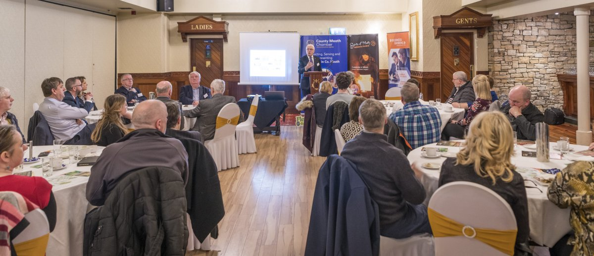 A large gathering at Meath Chambers February Business Lunch event in The Darnley Lodge Hotel Athboy on Thursday 28th February.