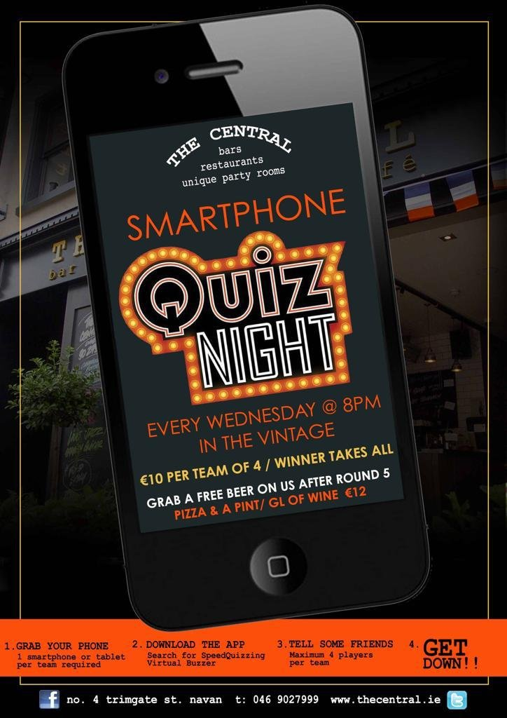 Smartphone Quiz Night - Every Wednesday from 8pm in The Vintage with a free beer after round 5!