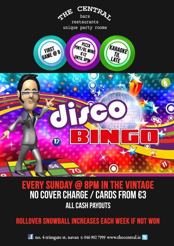 Disco Bingo - Every Saturday @ 8pm in The Vintage - No Cover Charge