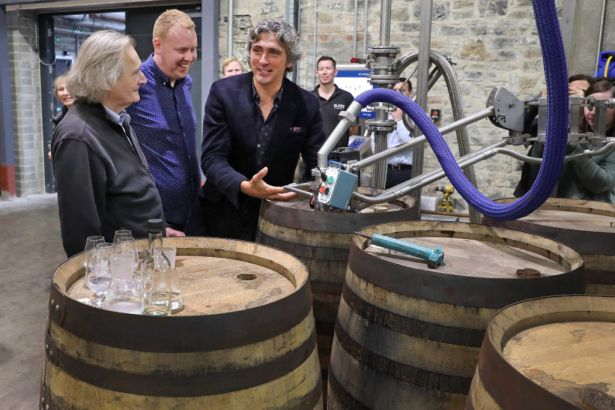 Slane Distillery Rolls Out First Whiskey Barrel.   Now in full production, Slane Distillery has capacity to produce 600,000 cases. Slane Distillery is the first to be built by Brown-Forman outside of the United States. Brown-Forman invested €44 million in the distillery's construction.